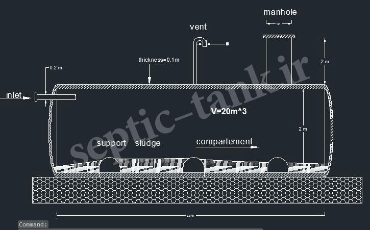 ابعاد و حجم سپتیک تانک